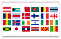 Flags of Sovereign States Organized By Their Symmetries